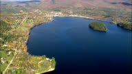Island Pond  - Aerial View - Vermont,  Essex County,  United States video
