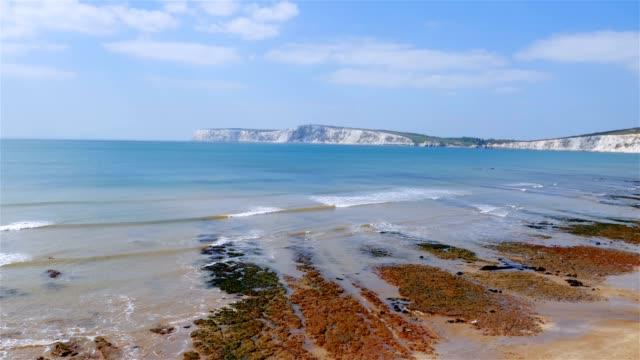 Isle of Wight coast Alum Bay next to the Needles video