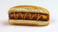 Isolated Hot Dog HD video