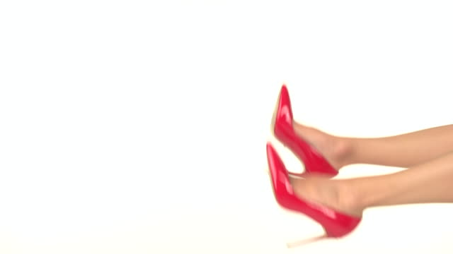 Isolated legs in heels. video