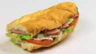 Isolated Sub Sandwich Close Up HD video