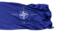 Isolated Waving Flag of Nato video