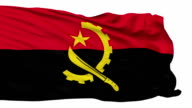 Isolated Waving National Flag of Angola video