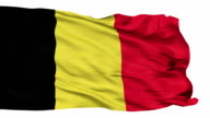 Isolated Waving National Flag of Belgium video