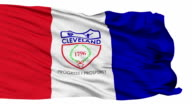 Isolated Waving National Flag of Cleveland City video