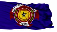 Isolated Waving National Flag of El Paso City video