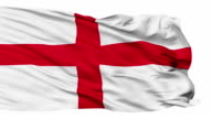 Isolated Waving National Flag of England video