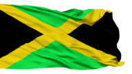 Isolated Waving National Flag of Jamaica video