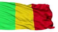 Isolated Waving National Flag of Mali video