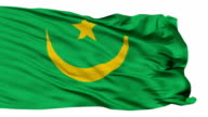 Isolated Waving National Flag of Mauritania video