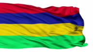 Isolated Waving National Flag of Mauritius video