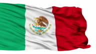 Isolated Waving National Flag of Mexico video