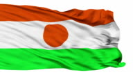 Isolated Waving National Flag of Niger video