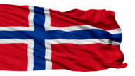 Isolated Waving National Flag of Norway video