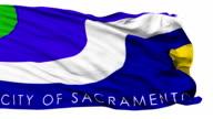 Isolated Waving National Flag of Sacramento City video