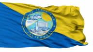 Isolated Waving National Flag of Santa Ana City, California video