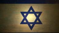 Israel Flag - Grunge. 4K video