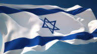 4K Israel Flag - Loopable video