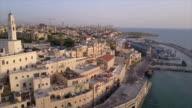 Israel, jaffa marina, Arieal view video