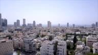 israel, Tel aviv, Arieal view - tel aviv skyline video