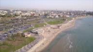 israel, Tel aviv coast, Arieal view video