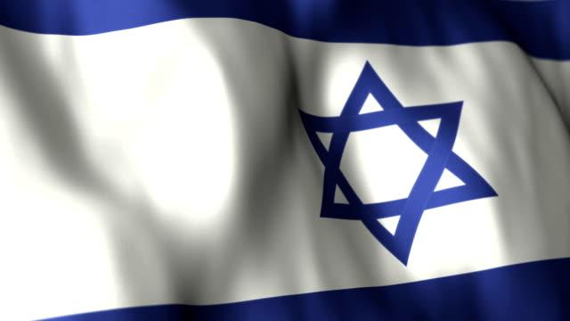 Israeli Flag High Detail - Looping video