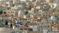 Israeli Flag in Old City Jerusalem video