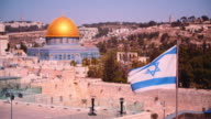 Israeli Flag near the Temple Mount video