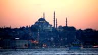 Istanbul at dusk, Turkey video