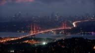 Istanbul Bosphorus Bridge at night video