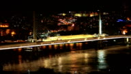 Istanbul city traffic at night video
