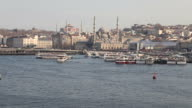 Istanbul historical peninsula view from Halic with Unkapani Bridge video