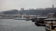 Istanbul in winter and Eminonu video