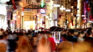 Istanbul Istiklal Street at Night. Timelapse video