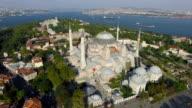 Istanbul Landscape, Flying Around Hagia Sophia Mosque video