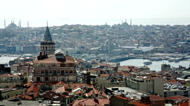Istanbul panorama with Galata tower video