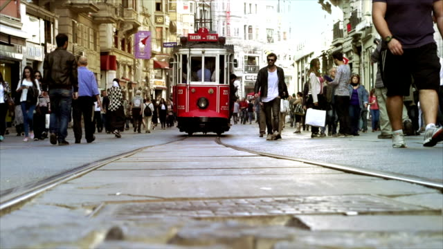 Istanbul Tramway Busy Street video