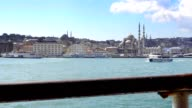 Istanbul view from a ferry over the Bosphorus video