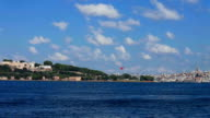 Istanbul view from bosphorus on sunny day video