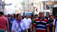 Istiklal Avenue Istanbul Crowd video