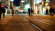 istiklal street and tram timelapse video
