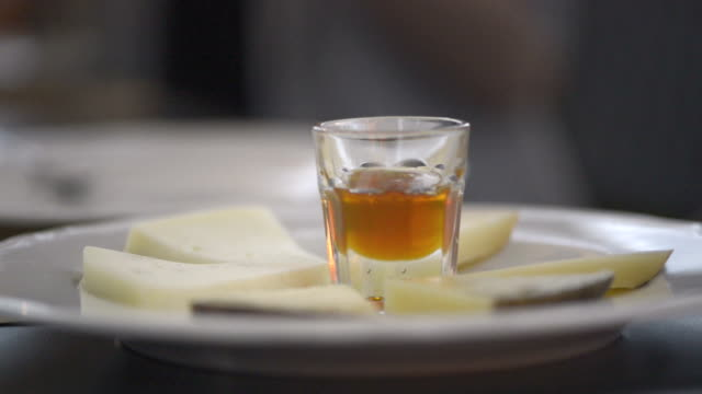 Italian cheese with honey video HD video