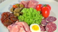 Italian Cured Meat Platter Rotating video