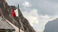 Italian flag waving in the Dolomites video
