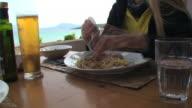 Italian food: mediterranean spaghetti video