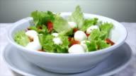 italian food - salad with mozzarella video
