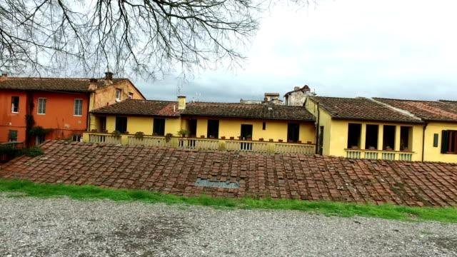 Italian homes buildings,panorama video