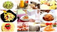 italian pasta collage video