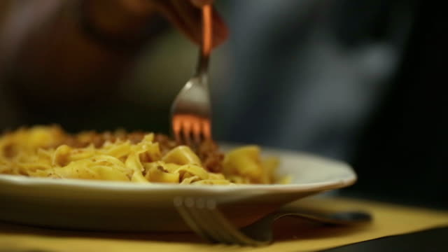 Italian pasta with ragù video HD video