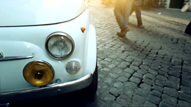 Italian Vintage Classic Car and People video